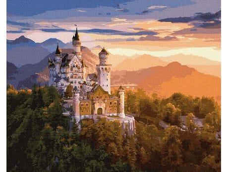 Zamek Neuschwanstein malowanie po numerach