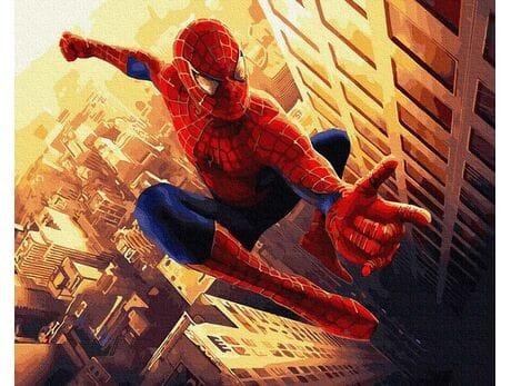 Spiderman malowanie po numerach