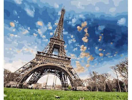 Romantyczne niebo Paryżu malowanie po numerach