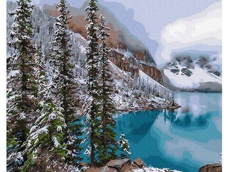 Alpejskie jezioro malowanie po numerach