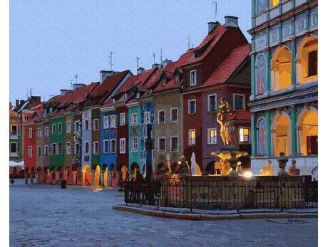 Poznań Stary Rynek malowanie po numerach