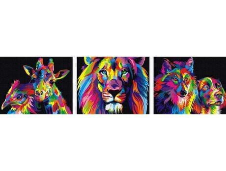 Kolorowe zwierzęta malowanie po numerach