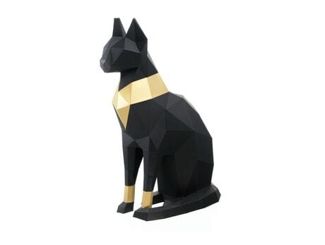"Figurka 3D ""Cat Bastet"", czarna, zestaw do składania 3D modelu"