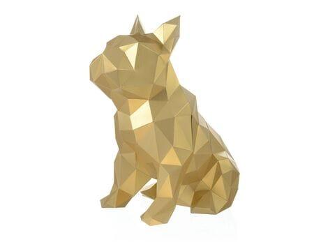 """Figurka 3D """"Bulldog Julien"""", złota, zestaw do składania 3D modelu papercraft 3d modele"""
