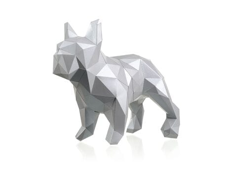 "Figurka 3D ""Bulldog Mars"", platyna, zestaw do składania 3D modelu papercraft 3d modele"