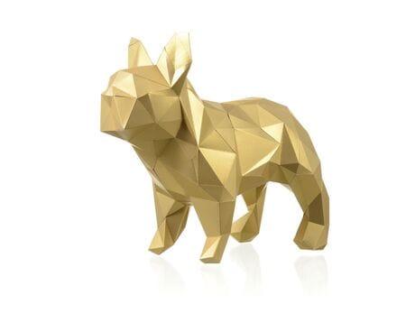 "Figurka 3D ""Bulldog Mars"", złoto, zestaw do składania 3D modelu papercraft 3d modele"