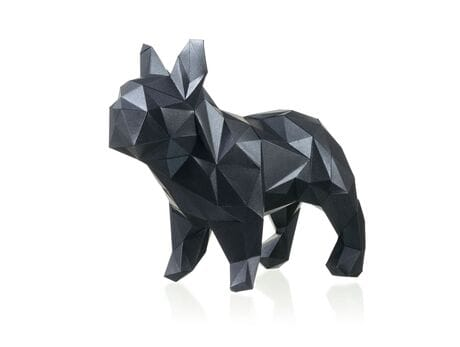 "Figurka 3D ""Bulldog Mars"", czarny, zestaw do składania 3D modelu papercraft 3d modele"