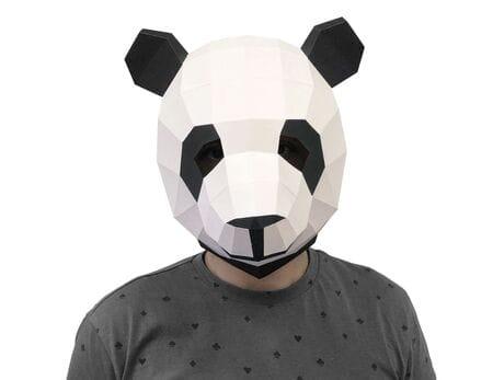 """Maska """"Panda"""", zestaw do składania (do sesji zdjęciowych i rozrywki) papercraft 3d modele"""