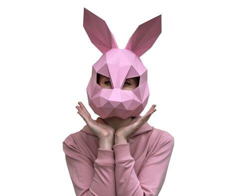 Maska Zając (różowa)