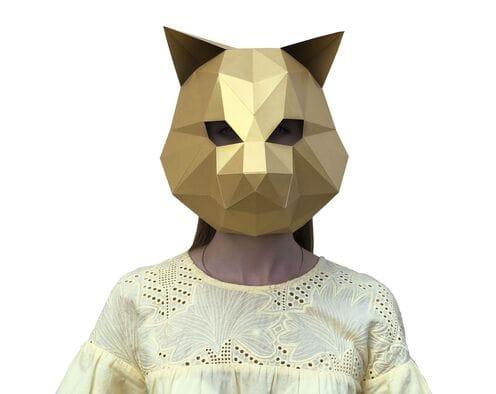 Maska Cat (złota)