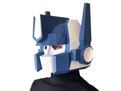 """Maska """"Optimus P"""", niebieska, zestaw do składania (do sesji zdjęciowych i rozrywki)"""