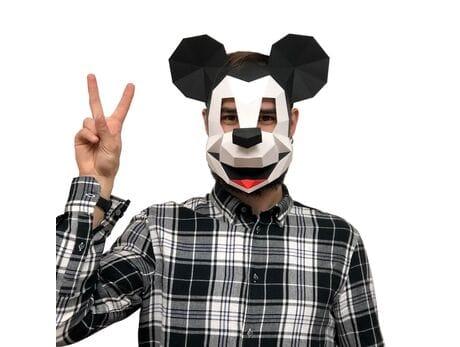 """Maska """"Myszka Miki"""", zestaw do składania (do sesji zdjęciowych i rozrywki) papercraft 3d modele"""