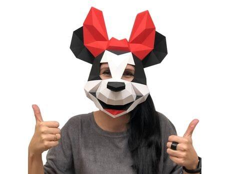 """Maska """"Myszka Minnie"""", zestaw do składania (do sesji zdjęciowych i rozrywki) papercraft 3d modele"""