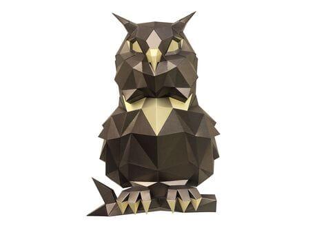 """Trofeum """"Owl Pooh"""", brąz, zestaw do składania (3D model na ścianę) papercraft 3d modele"""