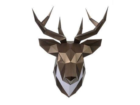 """Głowa trofeum """"Jeleń Pet"""", brąz, zestaw do składania (3D model na ścianę) papercraft 3d modele"""