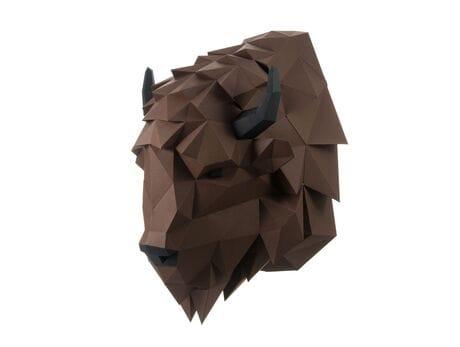 """Głowa trofeum """"Żubr Volat"""", brązowa, zestaw do składania (3D model na ścianę)"""