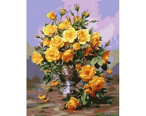 Piękne żółte róże