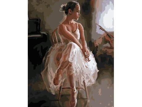 Młoda gwiazda baletu malowanie po numerach