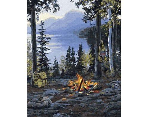 Ognisko w górach