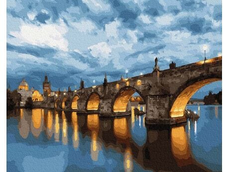 Most Karola. Praga malowanie po numerach