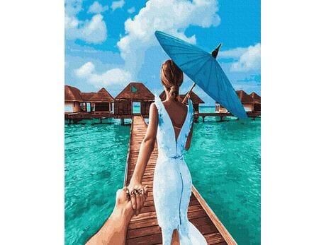 Podążaj za mną - Malediwy malowanie po numerach