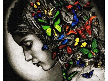 Kolorowe motyle malowanie po numerach