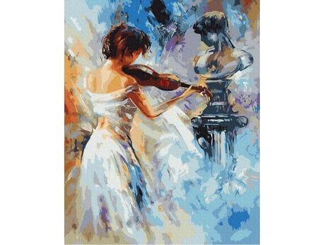 Klasyczne melodie skrzypiec malowanie po numerach