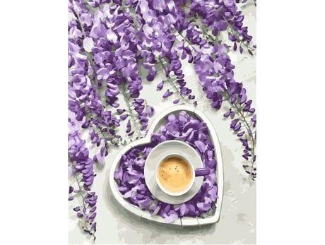 Z miłości do kawy malowanie po numerach