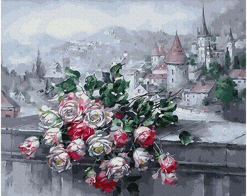 Pejzaż z różami
