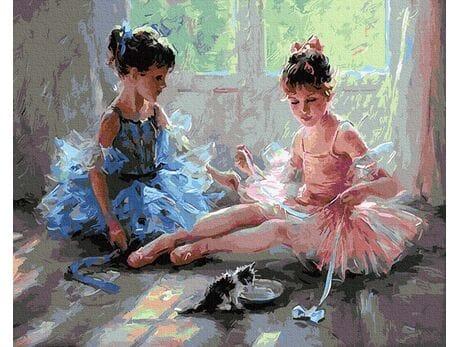 Urocze baletnice malowanie po numerach