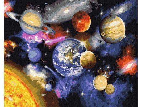 Nieznane obszary kosmosu malowanie po numerach