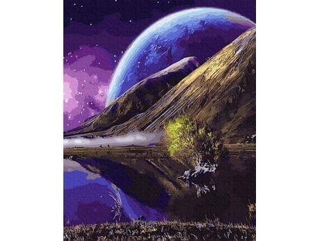 Nieznane planety wszechświata malowanie po numerach