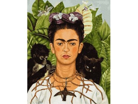 Frida Kahlo -  Autoportret malowanie po numerach