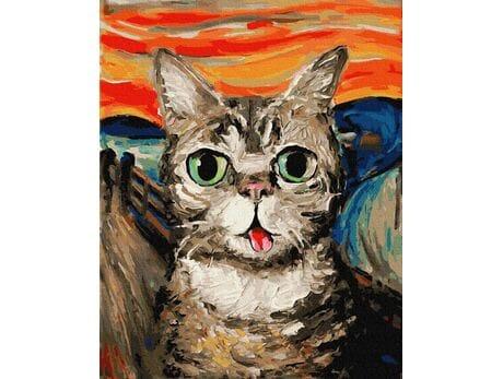 Krzyk - wersja Kot malowanie po numerach