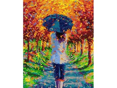 Jesienny spacer w parku malowanie po numerach