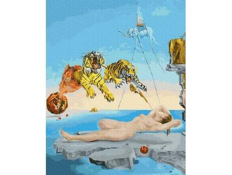 Salvadore Dali.Sen spowodowany lotem pszczoły malowanie po numerach