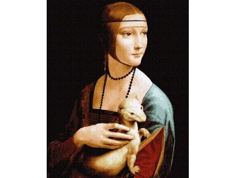 Dama z gronostajem. Leonardo da Vinci malowanie po numerach