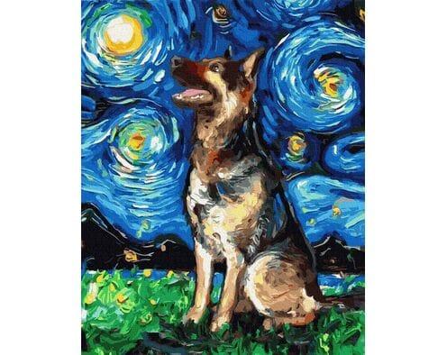 Owczarek w stylu van Gogha