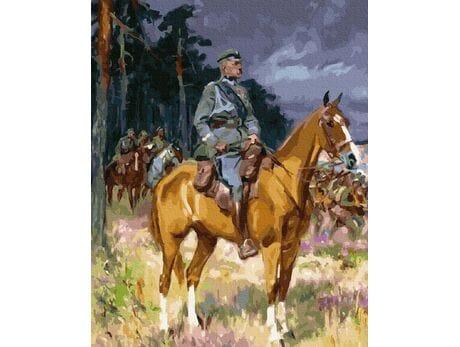 Józef Piłsudski na Kasztance malowanie po numerach