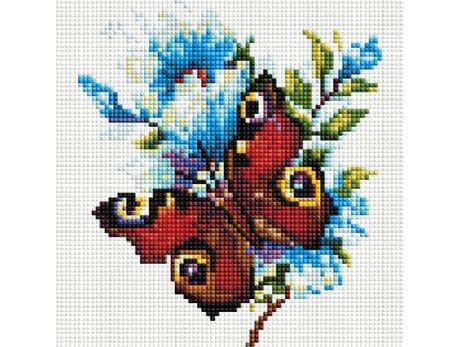 Motyl - Rusałka pawik diamentowa mozaika