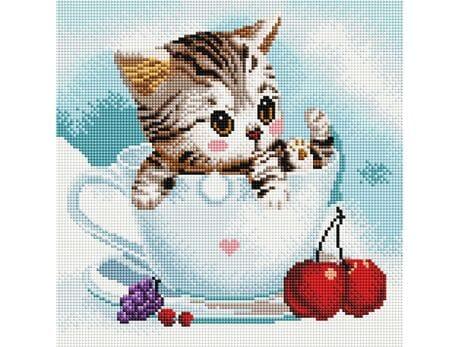 Kotek i Wiśnie diamentowa mozaika