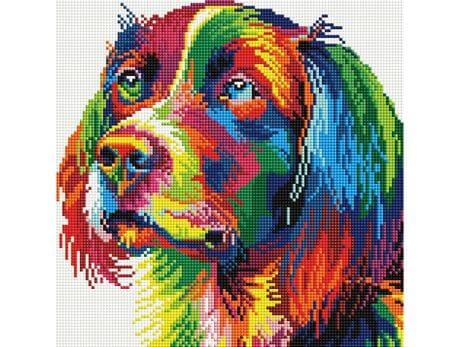 Kolorowy Piesek diamentowa mozaika