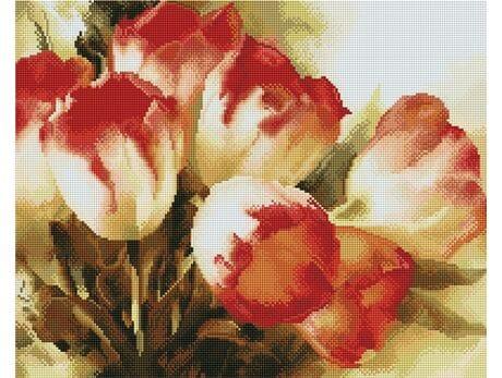 Barwne tulipany diamentowa mozaika