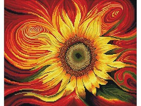 Słoneczny kwiat diamentowa mozaika