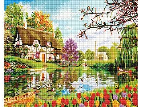 Kolorowe Wiejskie Życie diamentowa mozaika