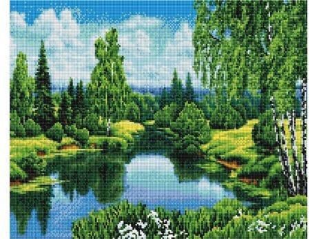 Lato nad rzeką diamentowa mozaika