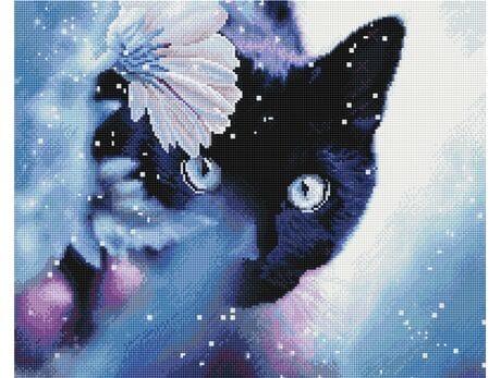 Czarny kot diamentowa mozaika