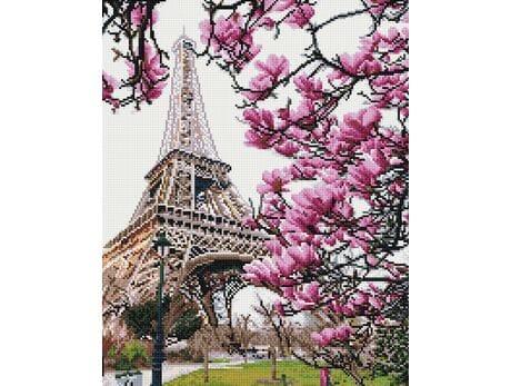 Wieża Eiffla w kwiatach diamentowa mozaika