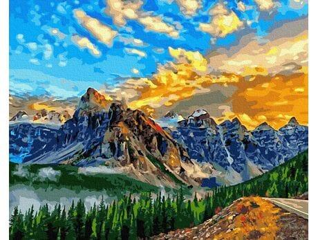 Niebo w górach malowanie po numerach