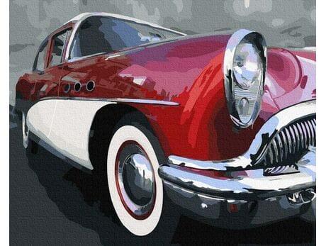 Klasyczny samochód oldschoolowy malowanie po numerach